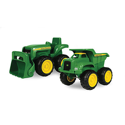 Best Toy Cars for Toddlers John Deer Sandbox Vehicle 2 Pack, Truck and Tractor
