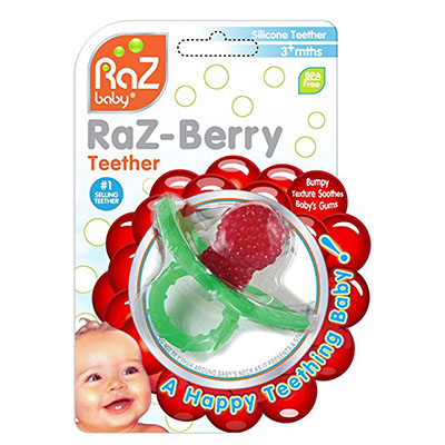 Best Teething Toys for Babies RaZbaby RaZ-Berry Silicone Teether
