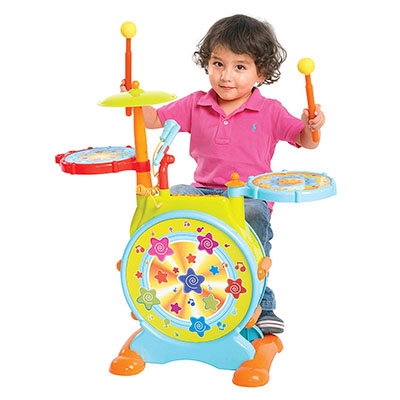 Best Toddler Drum Sets DanPanda Big Toy Drum Set For Kids With Microphone
