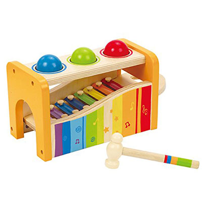 Best Toys for One Year Old Boy Hape Tap & Pound Bench