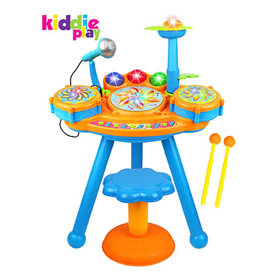 Best Toddler Drum Sets Kiddie Play Electric Toy Drum Set for Kids