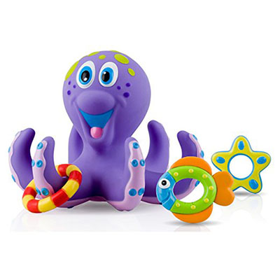 Best Bath Toys for Toddlers Nuby Octopus Hoopla Bathtime Fun Toys
