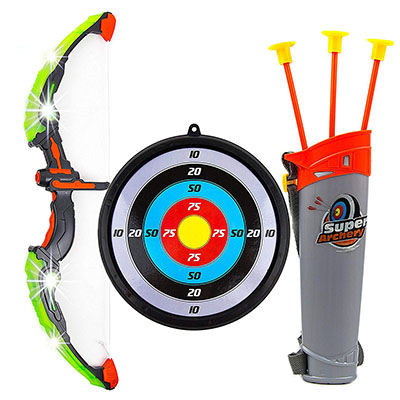 Best Outdoor Toys for 6 Year Olds Toysery Kids Toy Bow & Arrow Archery Set with Arrow Holder with Target Stand
